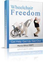 Illustrated ebook for wheelchair safety, transfers and strengthening and stretching for optimal success
