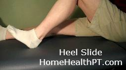 heel slides for improved strength in elderly legs