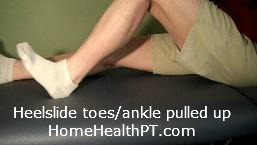 strengthen foot drop with home exercise program heel slide