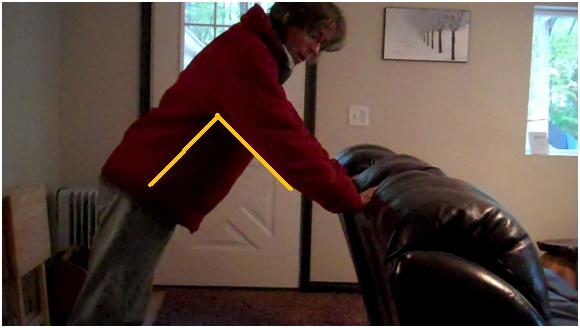how to do a modified push up off a couch for strength training in home health physical therapy exercise programs