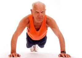Young or Old, push ups are great strengthening for elderly patients aging in their own homes