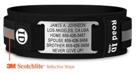 Identification bracelets for elderly