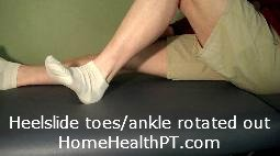 strengthen lateral hamstrings, lateral ankle with home exercise program heel slides