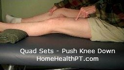 Do-It-Yourself knee strengthening exercises - step one for quad sets