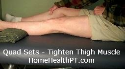 Do-It-Yourself knee strengthening exercises - step two for quad sets